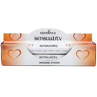 Elements Sensuality Incense Sticks (Box Of 6 Packs)