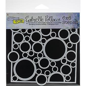 The Crafter's Workshop Bubble Rebound 6x6 Inch Stencil