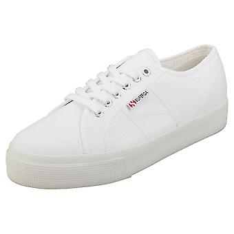 Superga 2730 Mens Platform Trainers in White