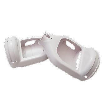 """6.5"""" Plastic Replacement Shell With Disco Lights - Swegway Shell 6.5 Inch Frame 2 Wheel Smart Balance Scooter Plastics - DISCO WHITE"""