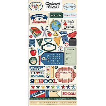 Carta Bella School Days 6x13 Inch Chipboard Phrases