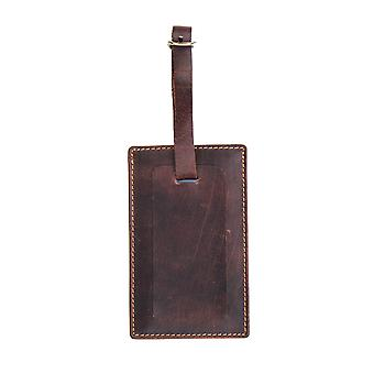 Primehide Premium Leather Luggage Tag Travel Suitcase ID Accessory - 4827