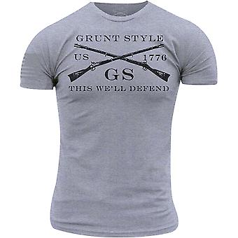 T-Shirt di base logo stile Grunt - Heather Gray