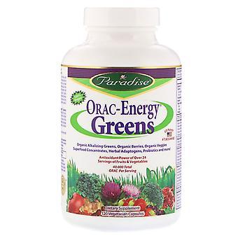 Paradise Herbs, ORAC-Energy Greens, 120 Vegetarian Capsules