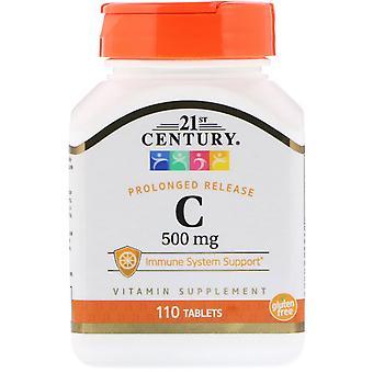 21e eeuw, vitamine C, langdurige afgifte, 500 mg, 110 tabletten