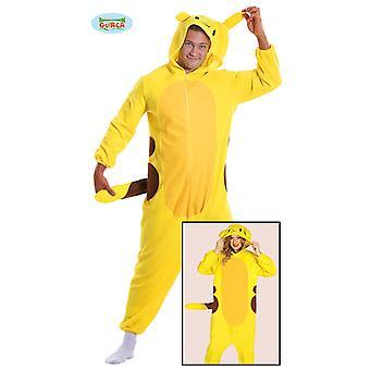 Costume giallo cincillà per tuta unisex adulto anime animale del fumetto Carnevale