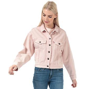 Women's Levis Slouch Trucker Jacket in Pink
