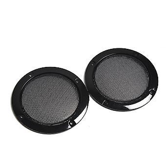 Black Replacement Round Speaker Protective Mesh Net Cover, Case