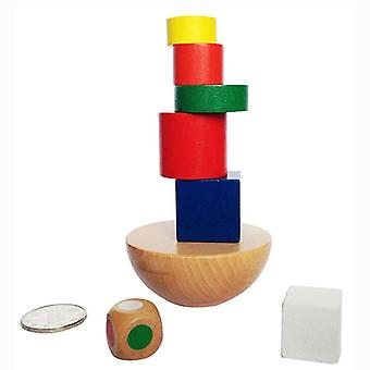 Colorful Wooden-building-blocks Toy Baby Educational Toys Balance Training Game For Kids