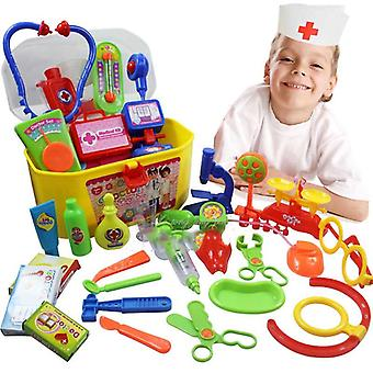 30 Pcs/set Creative Doctor Medical Play Set- Pretend Carry Case Medicine Box