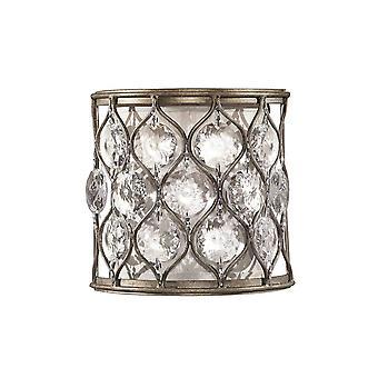 Elstead Lucia - 1 lys innendørs vegg lys brent sølv, E14