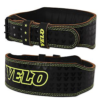 VELO 4 INCH Leather Weight Lifting Belt LP1