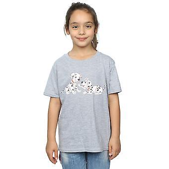 Disney Mädchen 101 Dalmatiner Aquarell Freunde T-Shirt