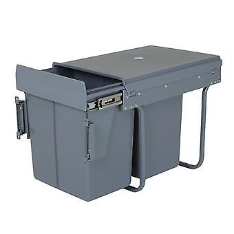 Charles Bentley Wyciągnij szafkę kuchenną o pojemności 40L - Recykling Wielogródkowy Zapach zapobiegający pokrywie