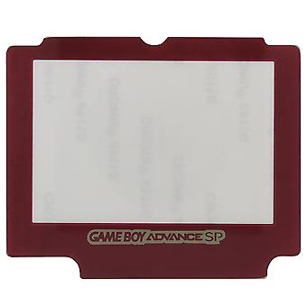 Zedlabz replacement glass screen lens cover for nintendo game boy advance sp with adhesive - red