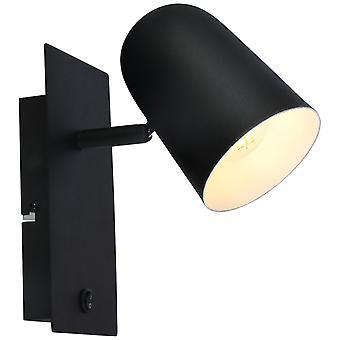BRILLIANT lampe Ayr væg spot switch sort mat   1x D45, E14, 18W, egnet til faldlygter (ikke inkluderet)   Skala