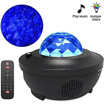 Led Music Star Projetor Lamp-usb Cabo Wireless Sound Control Laser Light
