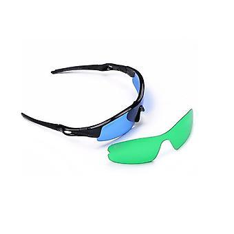 المهنية بقيادة تنمو نظارات خفيفة نظارات الأشعة فوق البنفسجية الاستقطاب نظارات لنمو خيمة الدفيئة المائية النباتية الخفيفة (2 قطعة العدسات)