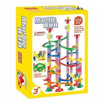 Diy Construction Marble Race Run Track Building Blocks Toys Christmas Gift For Kids