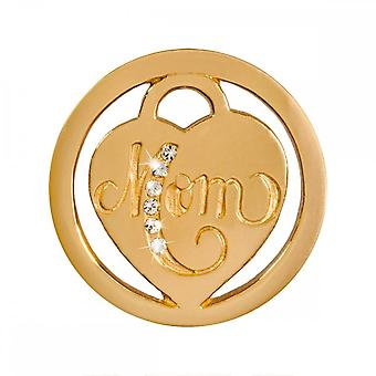 Nikki Lissoni Mom Small Gold Plated Coin C1398GS