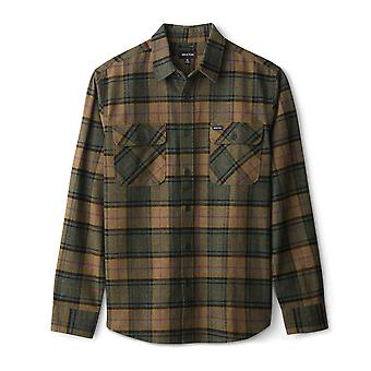 Brixton Bowery Flannel Long Sleeve Shirt Evergreen