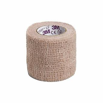 3M Cohesive Bandage, 2 Inch X 5 Yard, Tan, 1 Each