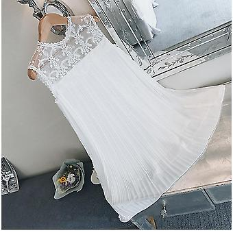 Lace Patchwork Chiffon Pleated Maternity Shirts Loose Pregnant Women Blouses Princess Sundress