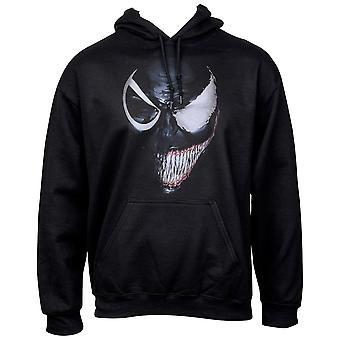 Venom Evil Smile Split Face Pull Over Hoodie