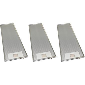 3 x Universal Cooker Hood Metal Grease Filter 159mm x 508mm