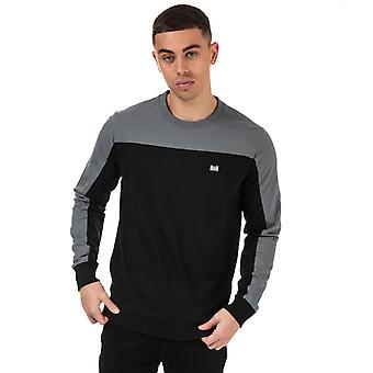 Men's Weekend Offender Shakarama Panel Crew Sweat in Black
