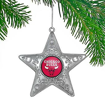 Chicago Bulls NBA Sports Collectors Series Silver Star Ornament