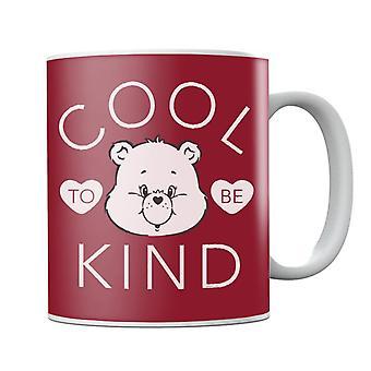 Hoito Karhut Tenderheart Bear Cool olla ystävällinen valkoinen teksti muki