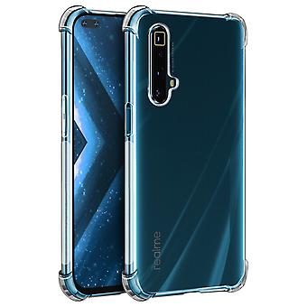 Back cover for Realme X3 Superzoom Flexible Case with Bumper Corners Transparent