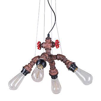 Italux Manille - Pendentif suspendu industriel et rétro Rusty 4 Light , E27