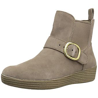 FitFlop Womens Superbuckle Closed Toe Ankle Chelsea Boots