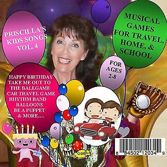 Priscilla Lamarca Kandel - muzikale spelletjes voor Travelhome & School [CD] USA import