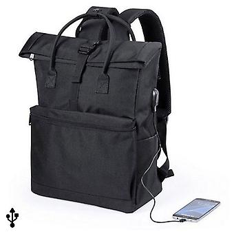 Backpack for laptop and tablet with USB socket