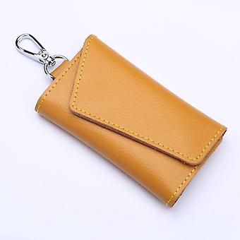 Chaveiro de couro genuíno Homens / Mulheres Chave Suporte Mini Saco de Cartão