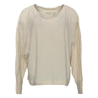 Rachel Hollis Ltd. Women's Sweater V-Neck Long-Sleeve Beige A368006