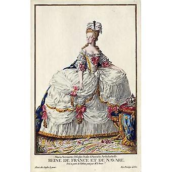 Marie Antoinette Poster Print por Pierre Duflos