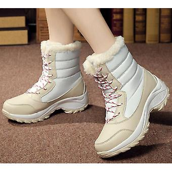 Women Non-slip Waterproof Winter Ankle Thick Fur High Boots