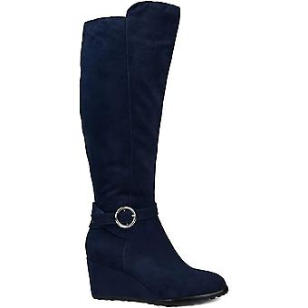 Brinley Co Comfort Womens Regular Wide Calf Extra Wide Calf Wedge Boot