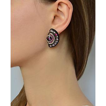 Stud Earrings With Crystals