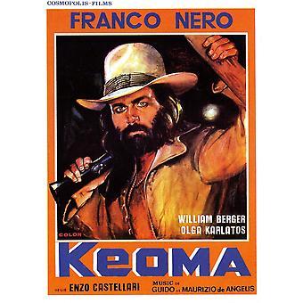 Keoma italienische Poster Art Franco Nero 1976 Film Poster Masterprint