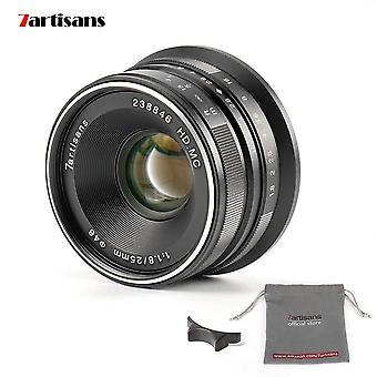 7Artisans 25mm f1.8 objectif fixe manuel pour m4/3 caméras de montage panasonic g1 g2 g3 g4 g5 g6 g7 gf1 gf2