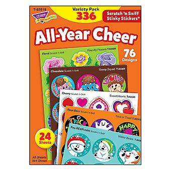 All Year Cheer Stinky Stickers Variety Pack, 336 Count