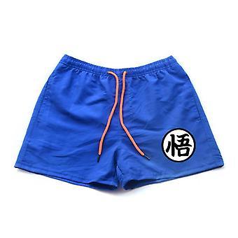 Mens Casual Shorts Summer Print Pants Beach Shorts Swimwear