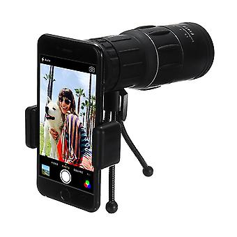 16x52 Outdoor Portable Monocular HD Optic BAK4 Telescope+Tripod+ Phone Clip Holder