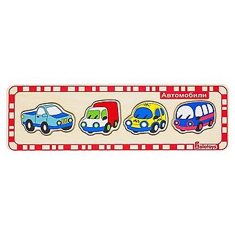 "Alatoys Wooden  Puzzles ""Cars"""