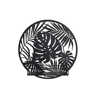 Dekoracja ścienna Dekodonia Shelve Metal Tropical (40 x 11 x 40 cm)